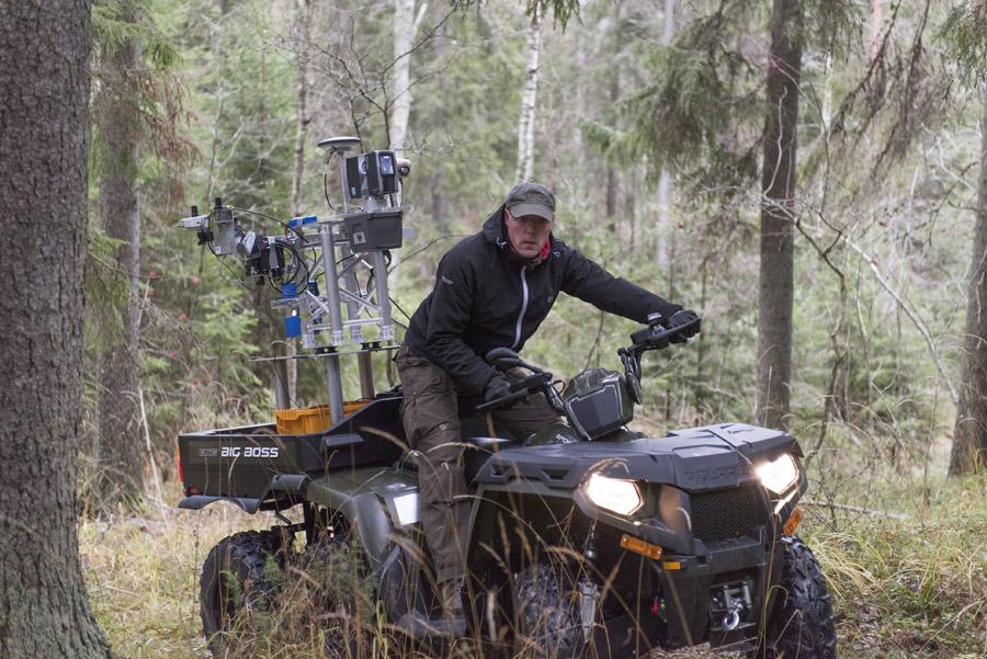 FGI Metsä - ATV laserkeilaimella